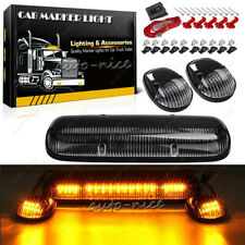 Cab Top Roof Marker Lights Amber Yellow LED for 02-07 Chevy Silverado GMC Sierra