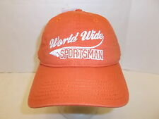 BRAND NEW WORLD WIDE SPORTSMAN ADJUSTABLE HAT CAP STITCHED ORANGE NWT