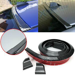 Universal Carbon Fiber Spoiler Wing Rear Sunroof Window Tail Lip Trim Stickers
