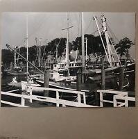 Pequeño Ostseehafen Barcos de Pesca Vela Achziger Años Vintage Fotografía