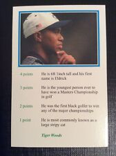 1999 Tiger Woods ROOKIE A Question Of Sport - Excellent Condition