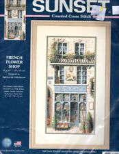 Sunset Counted Cross Stitch Kit - French Flower Shop - Made by Dimensions