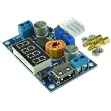 5A CC CV Step Down Buck Power Supply with LED Voltmeter Ammeter Heatsink w/ USB