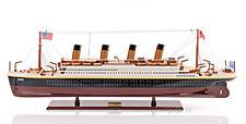 "RMS Titanic Ocean Liner Wooden Model 40"" White Star Line Cruise Ship Boat New"