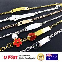 Charm Initial ID Bracelet 925 Silver S/F 18k Gold G/F Boy Girls Kids Baby Size