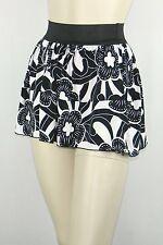 Poly Span Elastic Waist A-line Skater Mini Skirt Juniors LARGE S2012_1