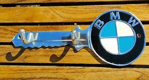 BMW Polished Aluminium & Hand Painted Key Tidy Hook Holder -Wall Mounted New