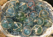 "Japanese Glass Fishing Floats 2"" Netted Lot-15 Round Net Buoy Authentic Antiques"