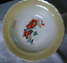 Pre WWII 1904-16 Rd Lustreware Republic Veg Serving Bowl Chartreuse Rust Floral