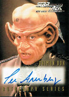 STAR TREK THE NEXT GENERATION SEASON SEVEN AUTO CARD A17 LEE ARENBERG AS BOK