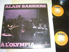 ALAIN BARRIERE A L'Olympia 2- LP Live Double Album French 1976 VG/VG+/VG+ Rare