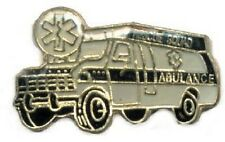 Hat Lapel Tie Tac Push Pin Rescue Ambulance NEW