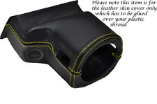 YELLOW STITCH FITS ROVER 200 25 MG ZR 99-05 STEERING WHEEL SHROUD LEATHER COVER