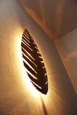 Lampada da parete plafoniera moderna design foglia metallo color oro NEW 66468