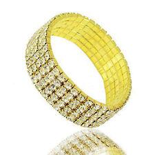 Shinny 5 Rows Crystal Rhinestone Bracelet Wrist Wedding Bangle Lady Jewelry Gift