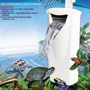 110-240V Aquarium Reptile Turtle Filter Waterfall Water Clean Pump for Fish tank