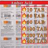 🔥🔥🔥 AMBER ACID   10 - 400 TAB  NATURAL ANTI-OXIDANT  Succinic Acid  EXP 06/22