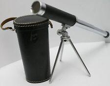 Vintage Tasco 30x30mm Collapsible Spotting Scope Mini Telescope w/ Case & Tripod