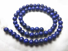 Royal Blue  6mm Matte Finish  Lapiz Lazuli  Round Shaped Strand Afghanistan LP43
