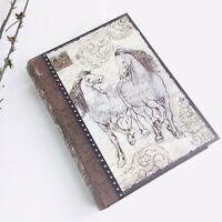 Punch Studio Book Box Hidden Storage Book Secret Hiding Place Horses Brown