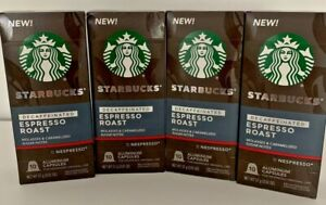 Starbucks Nespresso Espresso Roast Decaffeinated (Pack of 4) BSB DATE JULY 2021