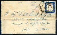 A.S.I. Sardegna 1859 n. 15B su busta annullo LODI (s055)
