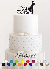 Tortenstecker Hochzeit Cake Topper Acrylglas Figur Tortenfigur Farbwahhl#1