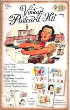 Vintage Postcards Kitchen Mail Kit Shapes Stamps Images NEW Domestic Goddess