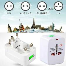 EU AU UK US To Universal World Travel AC Power Socket Plug Adapter Converter New
