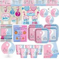 Gender Reveal Baby Shower Party Decorations Banners Tableware Blue Pink Unisex