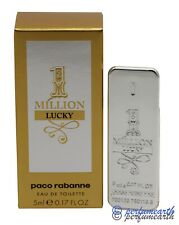 1 MILLION LUCKY MINI  0.17 OZ/5ML EDT SPLASH FOR MEN BY PACO RABANNE NEW IN BOX