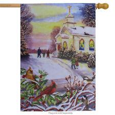 """Church Cardinal Christmas House Flag Holiday Yard Banner Custom Decor 28"""" x 40"""""""