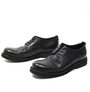 American Mens Real Leather Leisure Shoes Round Toe Lace up Business Work Office