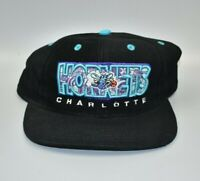 Charlotte Hornets NBA Drew Pearson Vintage 90s Snapback Cap Hat - NWT