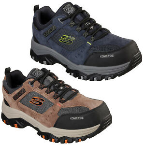 Skechers Work: Greetah Comp Toe Safety Shoes Waterproof Composite Mens Trainers