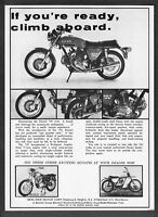 1972 Ducati 750 Twin, Road 250, Desmo R/T 450 Motorcycle photo vintage print ad