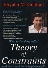 Theory of Constraints by Eliyahu M. Goldratt (1999, Paperback, Reprint)