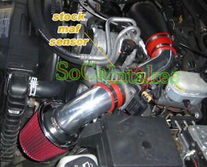 Red Cold Air  Intake Kit & Filter For 1996-2005 GMC Jimmy 4.3L V6