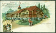 1905 Lewis & Clark Expo Card, View Of Forestry Building, Unusual, Vf