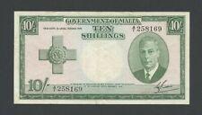 More details for malta  10 sh 1951 kgvi  krause 21  banknotes