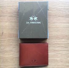 La Martina Men's Brown Leather Wallet, Bi-fold, Style L31PM0420073028