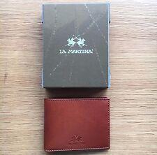 La Martina Men's Brown Leather Wallet, Bi-fold, Style L31PM0420073028