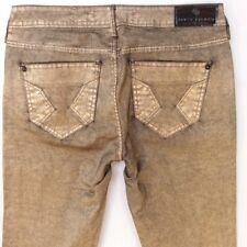 River Island Jeans Size 12 R Metallic Gold Skinny Follow Your Dreams L32