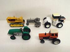 5 x tracteurs de remblayage tous différents décideurs 1:43 à 1:64 loose (bs1045)