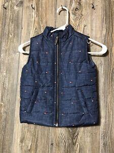 Toddler Boy Tommy Hilfiger Sleeveless Puffer Vest Size 3T Blue Logo