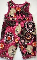 The Children's Place Baby Girls 3-6 Months Pink Floral Corduroy Bubble Romper