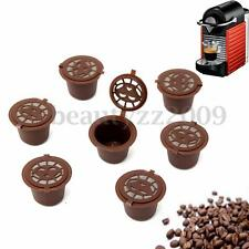 7 Refillable Reusable Coffee Capsules Pod For Nespresso Stainless Steel Filters