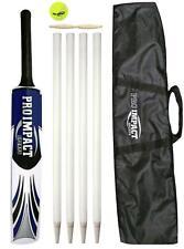 Pro Impact Junior Cricket Bat Set Includes Ball Wickets Bails
