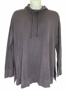 Womens Active Life Pullover Hoodie XXL Purple Thumbholes Stretch Drawstring