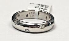 Tiffany & Co Etoile Platinum Diamond Eternity Wedding Band Ring Size 5